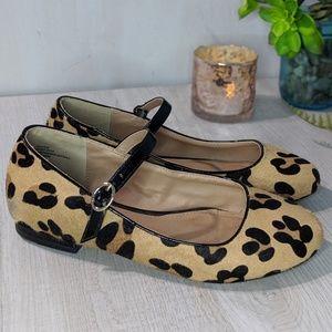 Torrid Calf Hair Leopard Mary Jane Flats